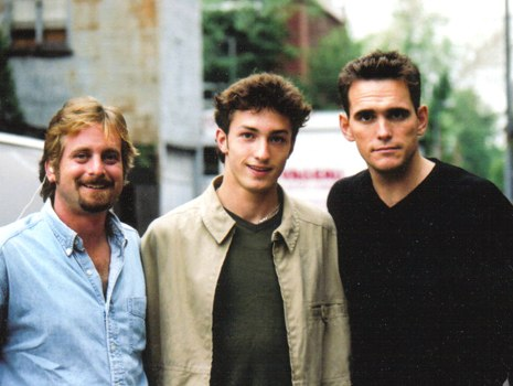 "William Paul Clark, Matt Smiley and Matt Dillon on the set of ""City of Ghosts"""
