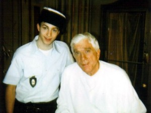 Matt Smiley and Leslie Nielsen