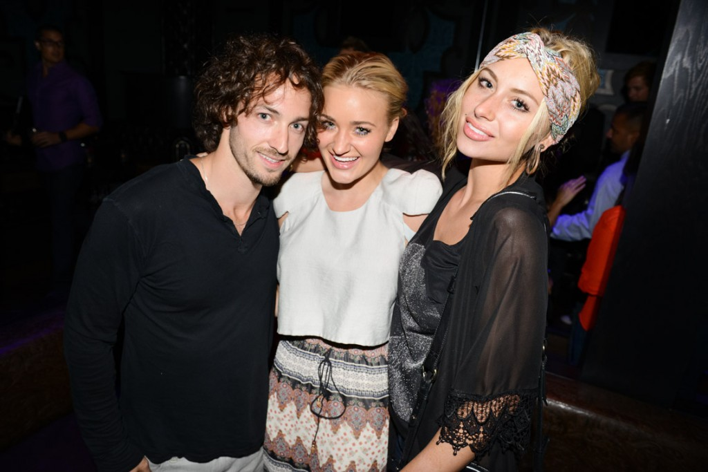 Matt Smiley with Aly & AJ Michalka photographed by Steven Meiers