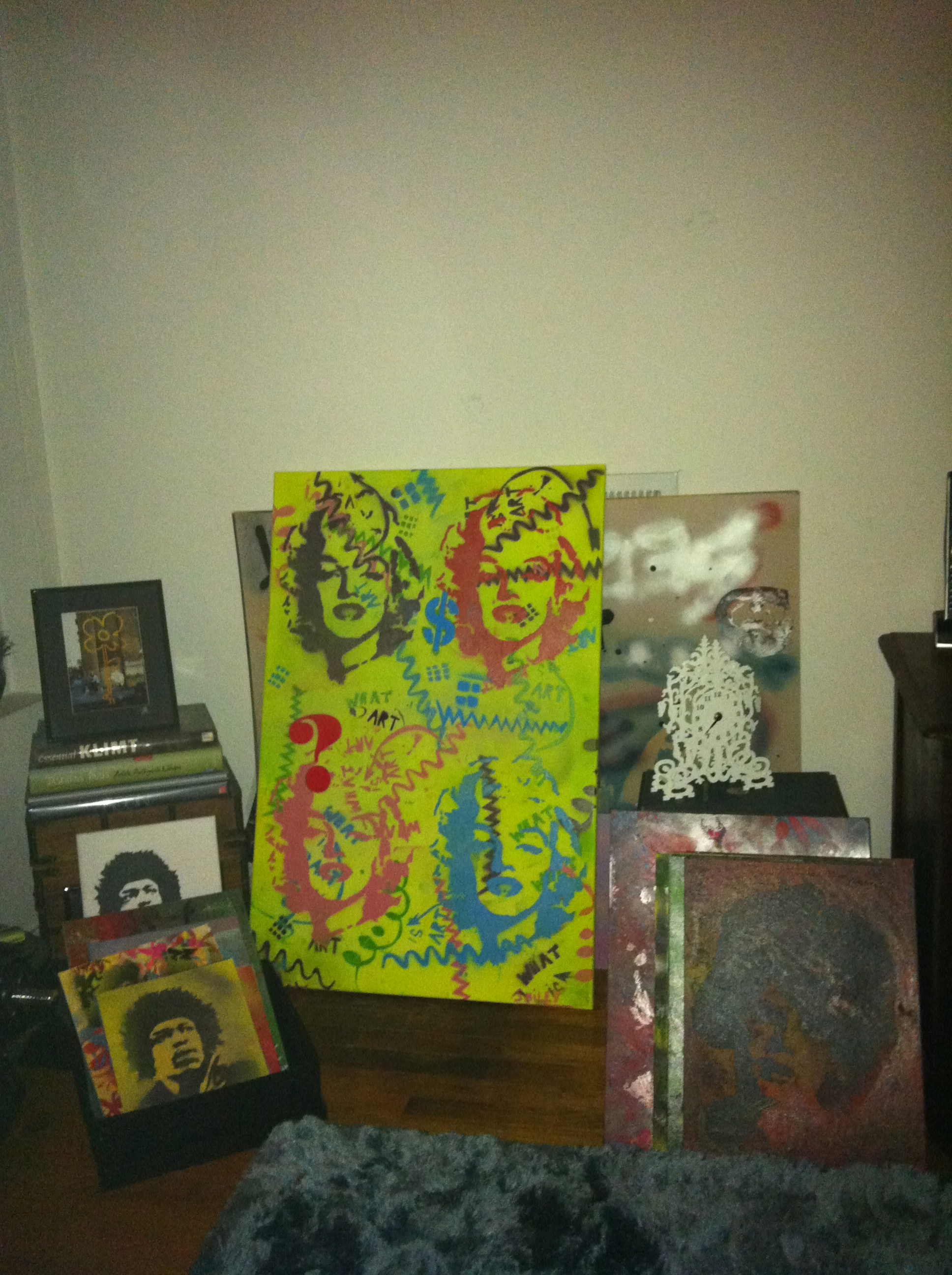 Marilyn Monroe, Jimmy Hendrix, Brigitte Bardot and Banksy
