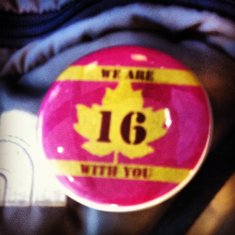 Highway of Tears: We Are With You pin