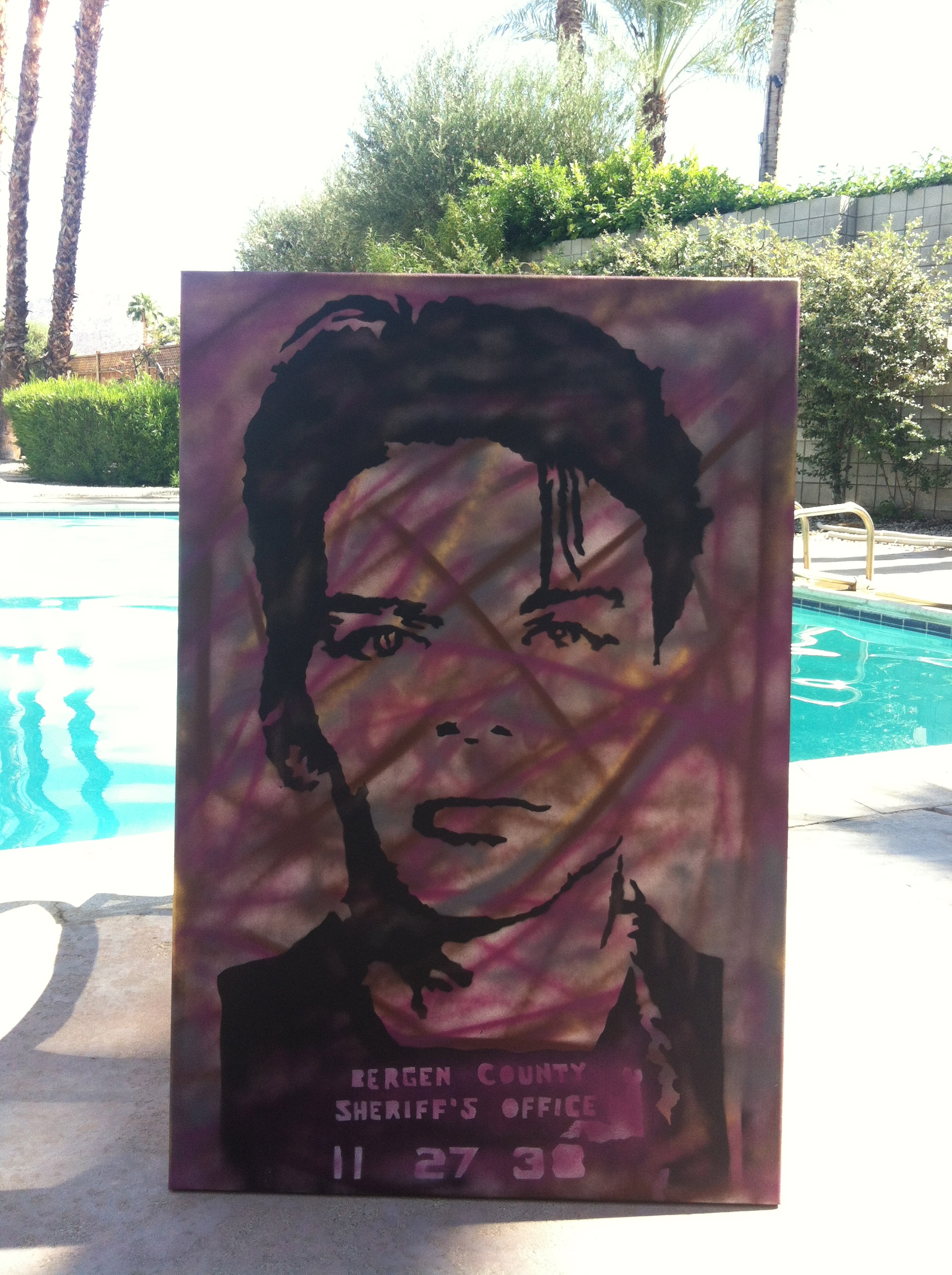 Frank Sinatra Poolside in Palm Springs, CA / photo: Matt Smiley