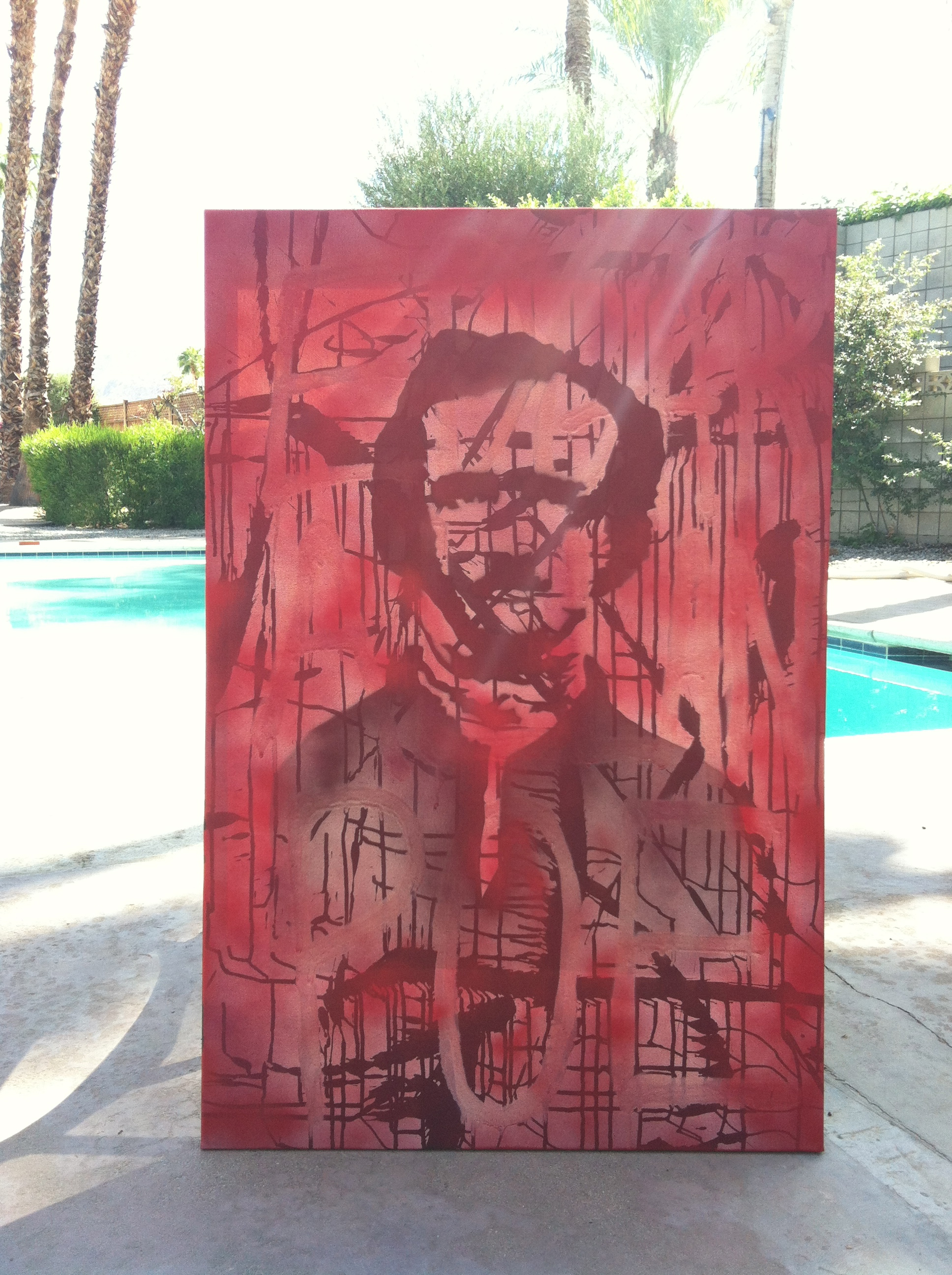 Edgar Allan Poe Poolside in Palm Springs / photo: Matt Smiley