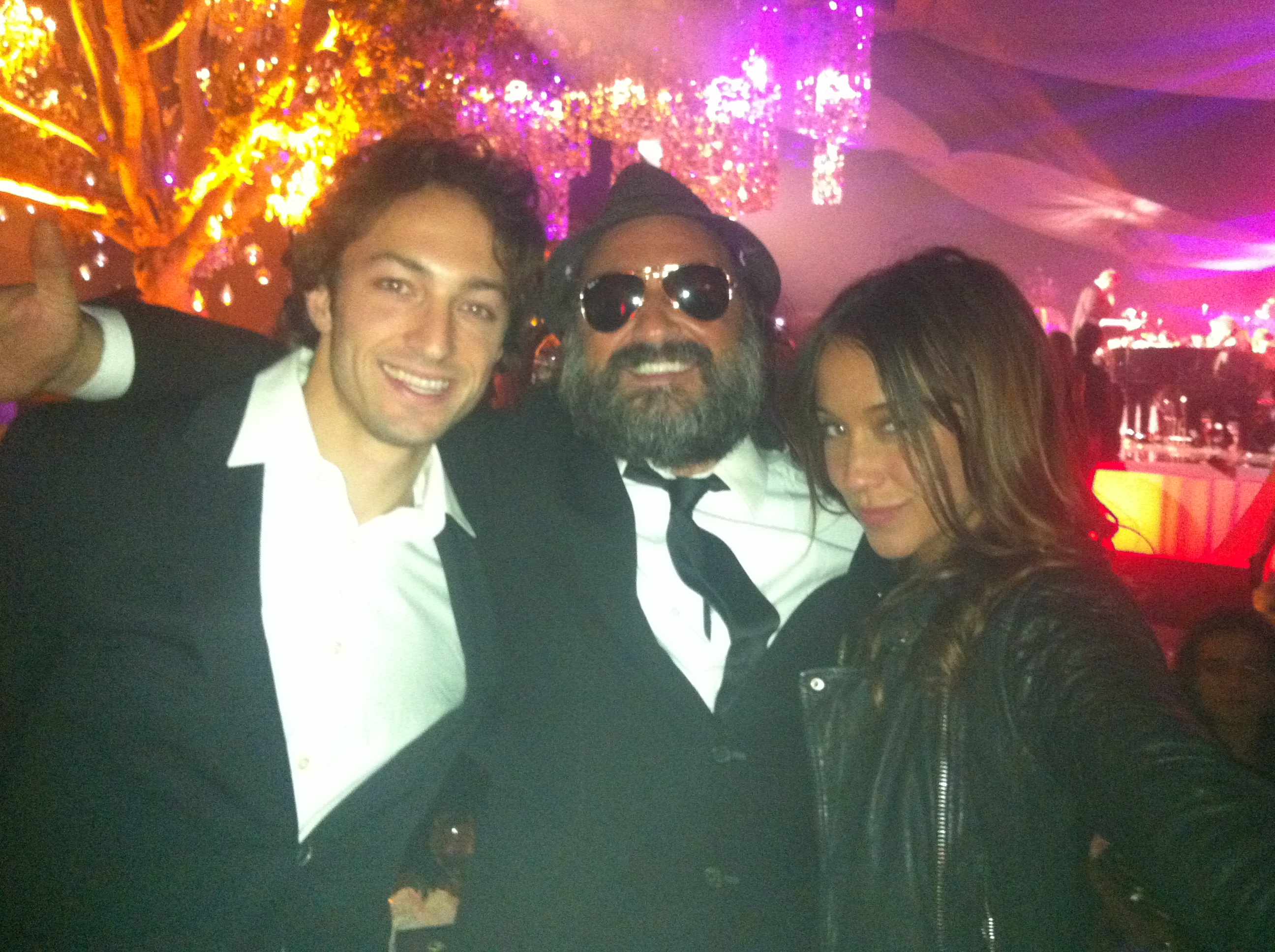 Matt Smiley, Mr. Brainwash (Thierry Guetta) and Stella Maeve