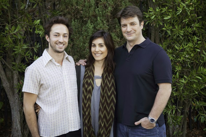 Filmmakers Matt Smiley, Carly Pope and Nathan Fillion.