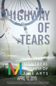 Highway of Tears poster for the Montreal Museum of Fine Arts