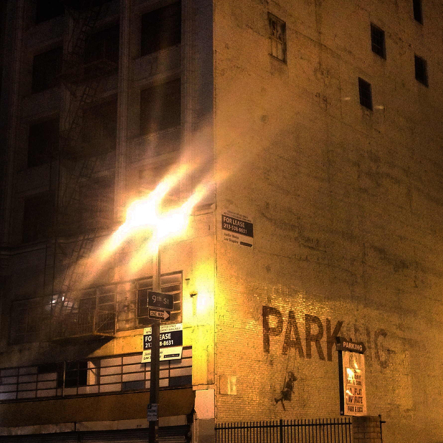 "Banksy piece ""PARK"" in Los Angeles"