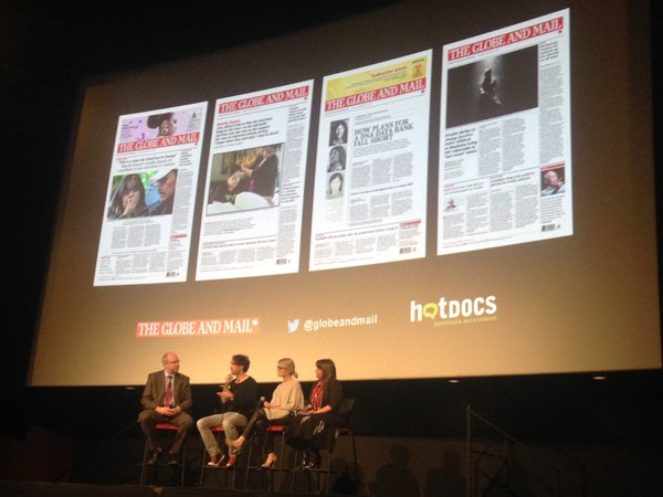 Globe and Mail Hot Docs Screening in Toronto