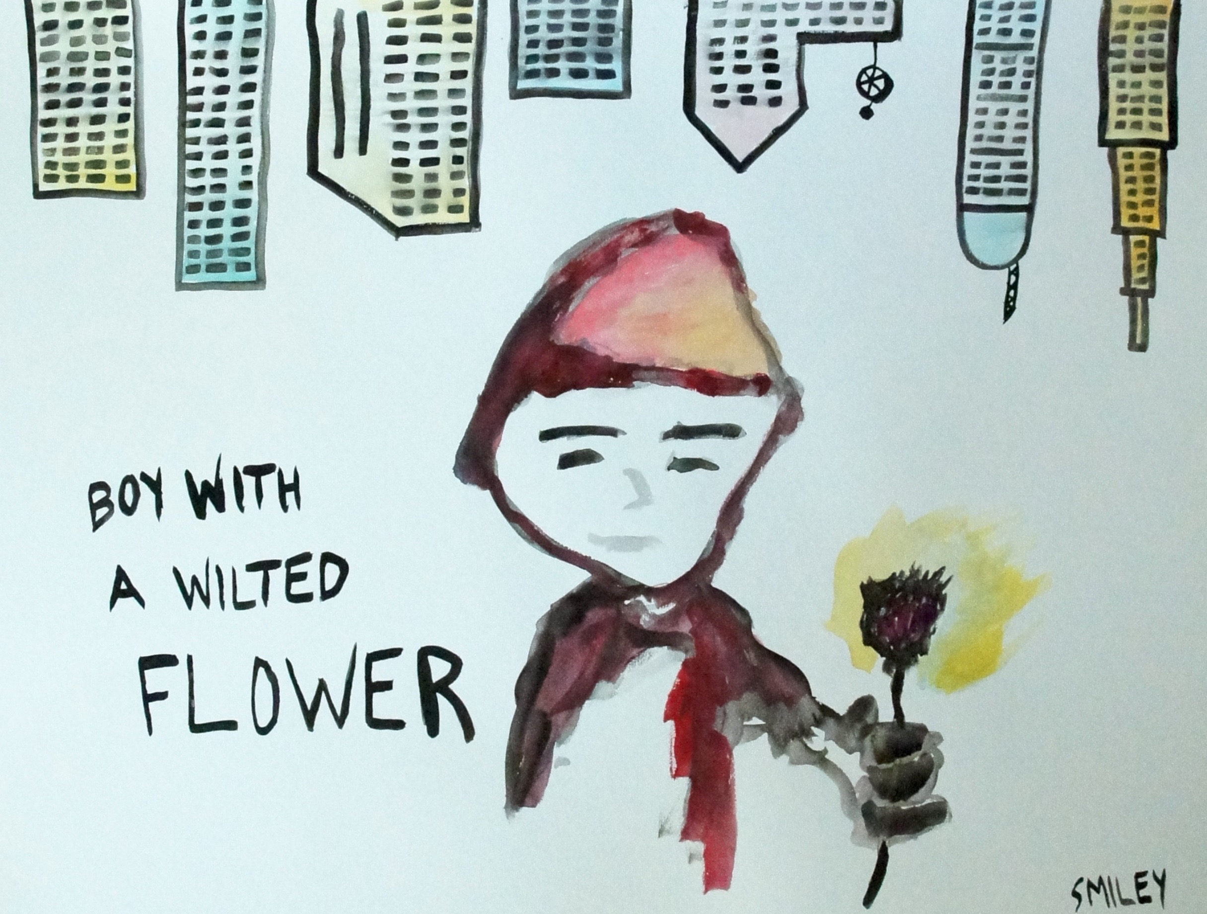 Boy with a Wilted Flower