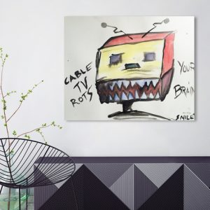 """""""Cable TV Rots Your Brain"""" by Matt Smiley"""
