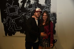 Artist Matt Smiley and Actress Justine Wachsberger