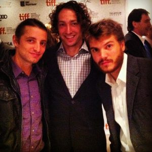 "Chuck Church, Matt Smiley and Emile Hirsch at the World Premiere of ""Twice Born"" #TIFF12"