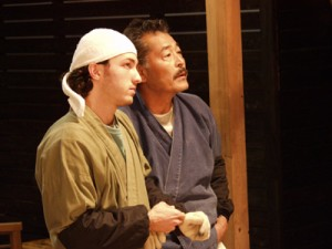 "Matt Smiley and Tatsuya Fuji in ""Kamataki"""