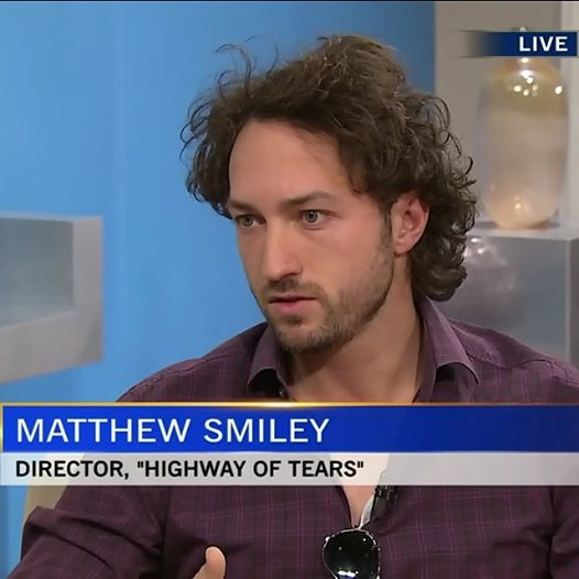 """Matthew Smiley on CTV News talking about """"Highway of Tears"""""""