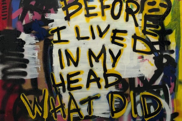 "POP CULTURE Medium: Acrylic and resin on canvas Size: 36"" x 48"""